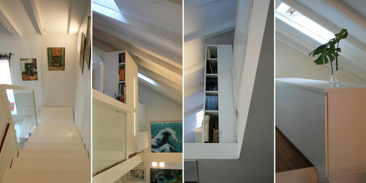 Progetto 4 progetti interior design maria angela - Camera da letto su soppalco ...