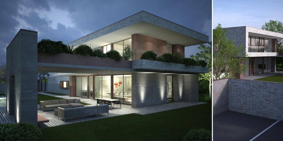 Ville moderne con tetto a falda tutto su ispirazione for Case moderne e contemporanee